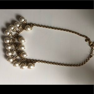 JCrew Dangling Pearl Ball Necklace
